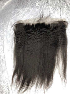 Virgin Cambodian Kinky Swiss Lace Frontal