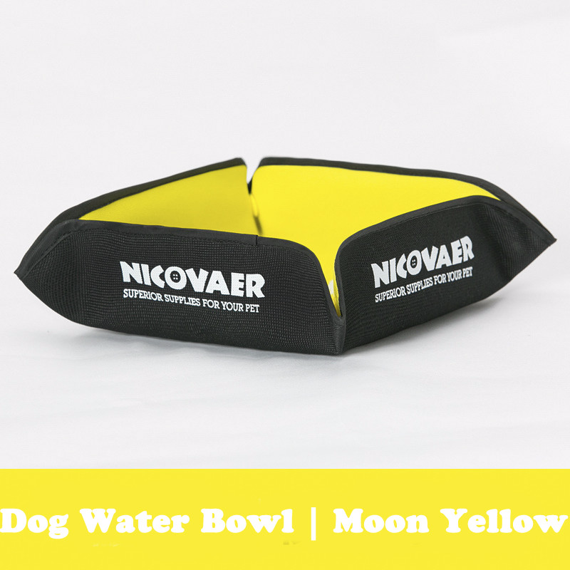 Portable Dog Water Bowl >> Portable Dog Outdoor Water Bowl Yellow