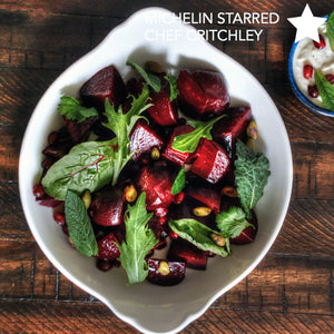 Roasted Beet Salad cooked on Cinder grill world's first indoor precision grill recipe