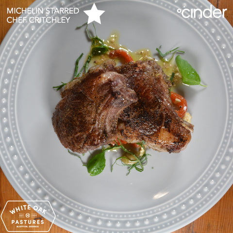 White Oak Pastures Lamb Chop by Michelin Star Chef Critchley