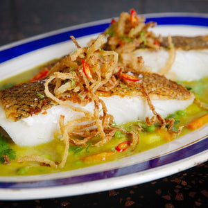 Sea Bass with Coconut Curry