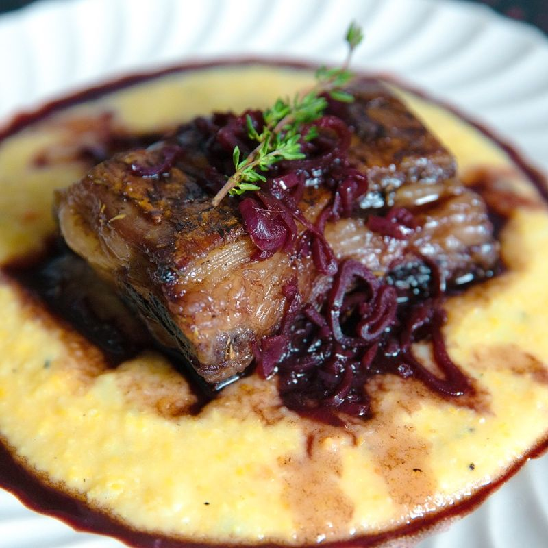 Cinder Grill Short Rib Recipe Sous Vide Short Rib Recipe Polenta Red Wine Jus