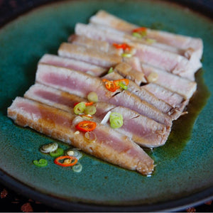 Easy seared tuna recipe on Cinder grill