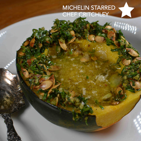 Whole Roasted Acorn Squash