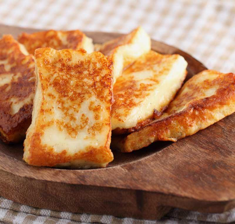 melt in your mouth halloumi cheese on cinder grill