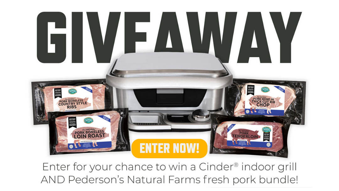 Whole 30 Partnership giveaway cinder grill and Pederson's  Natural Farms
