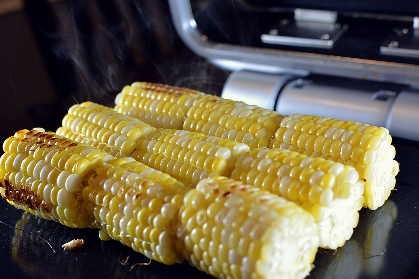 Elote Loco recipe on a cinder grill indoor precision cooking