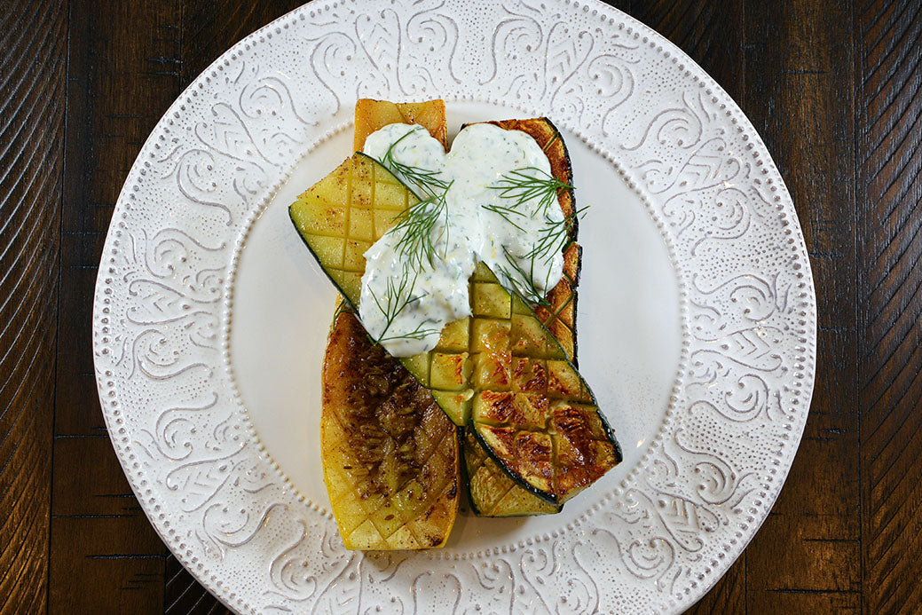 Grilled Zucchini With Yogurt