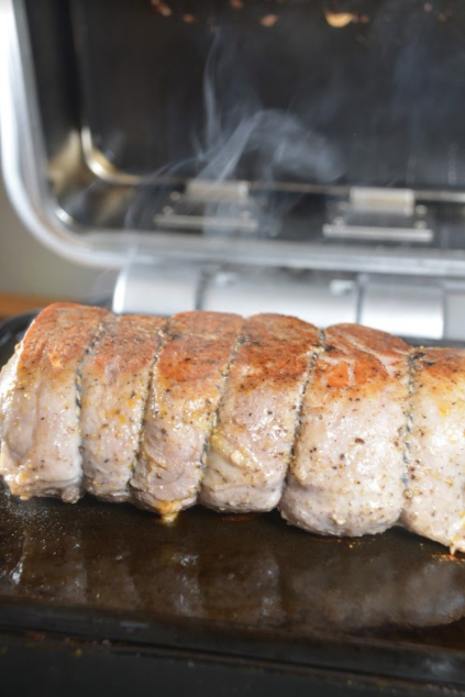 Whole30® Loin Roast on Cinder grill indoor precision grill cooks loin roast every time