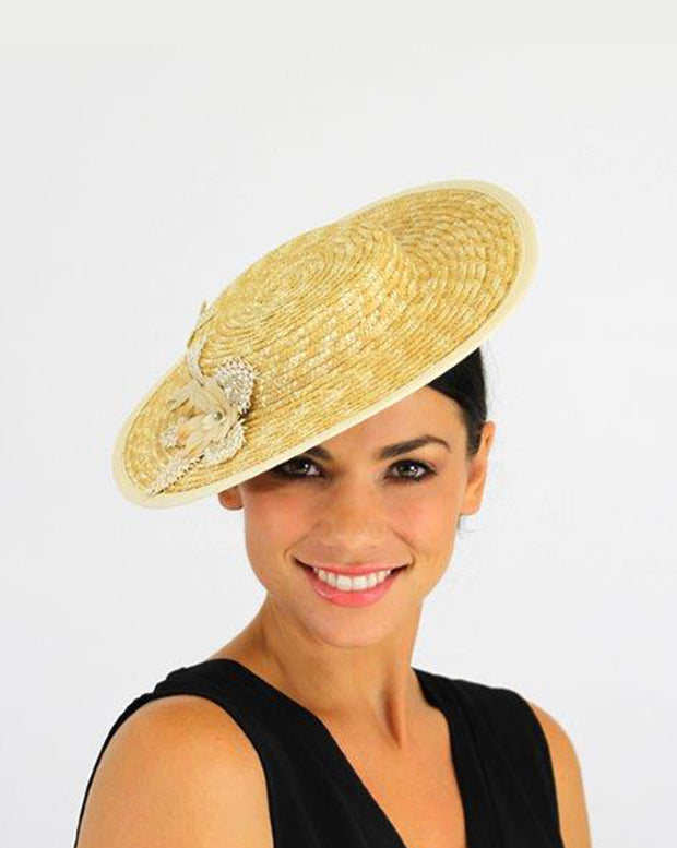 JENDI Straw Medium Brim Fascinator