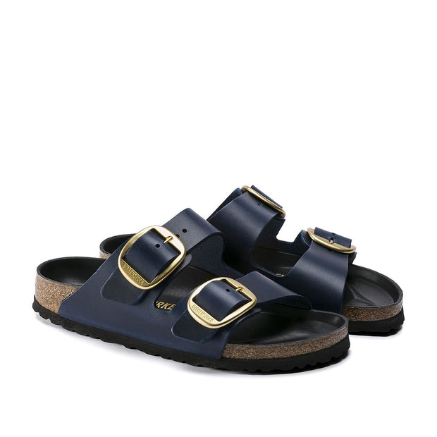 BIRKENSTOCK Arizona Big Buckle Blue Leather