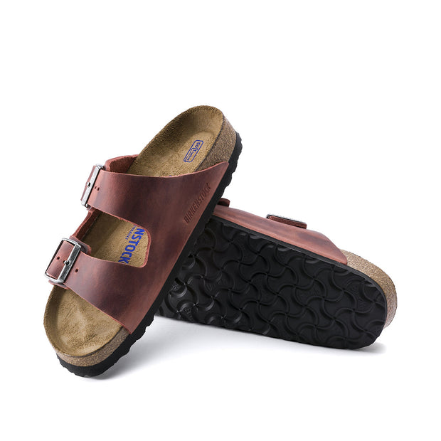 BIRKENSTOCK Arizona Suede Leather Soft Footbed - Earth Red