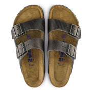 Arizona Oiled Leather Soft Footbed Sandal - Iron