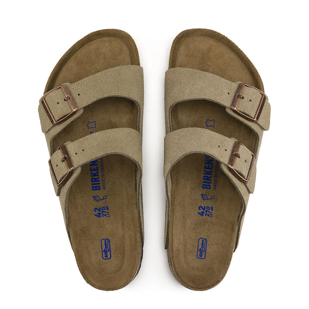 BIRKENSTOCK Arizona Taupe Suede Leather Soft Footbed