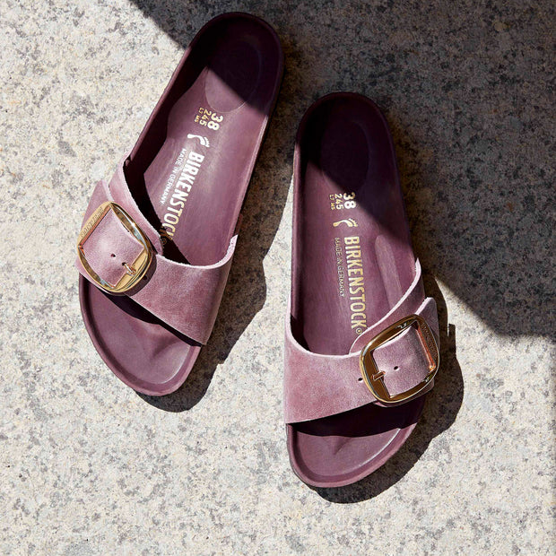 BIRKENSTOCK Madrid Big Buckle Oiled Leather Sandal - Lavender Blush