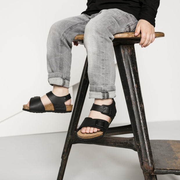 BIRKENSTOCK New York Kids Black Birko-Flor