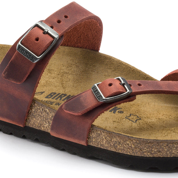 BIRKENSTOCK Mayari Oiled Leather#color_earth-red