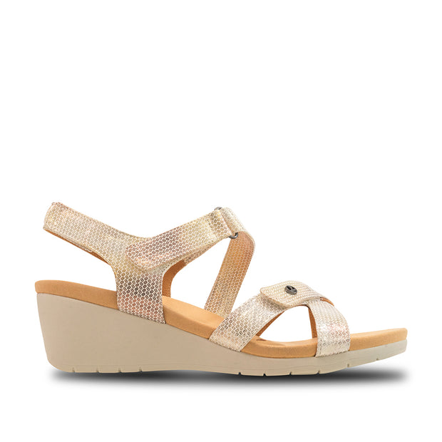 REVERE Casablanca Wedge Sandal#color_metallic-interest
