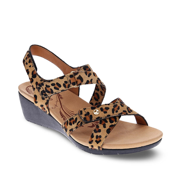 REVERE Casablanca Wedge Sandal#color_leopard
