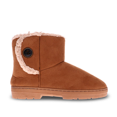 Scholl Orthaheel Fluffy Boot#color_brown