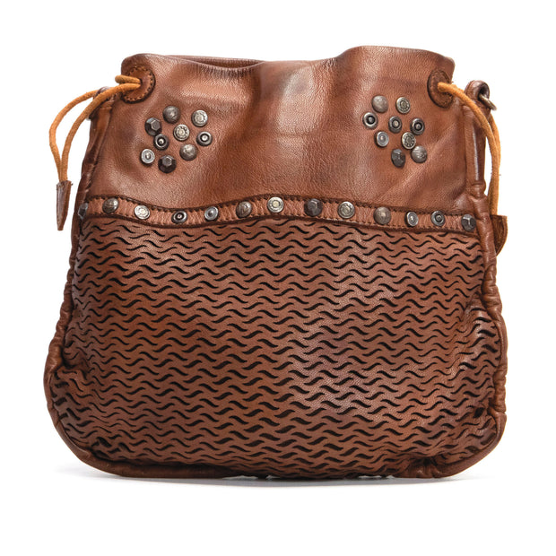 KOMPANERO Paris Cognac Crossbody Bag
