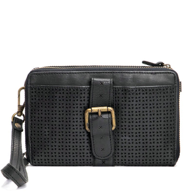 KOMPANERO Qintar Black Crossbody Wallet