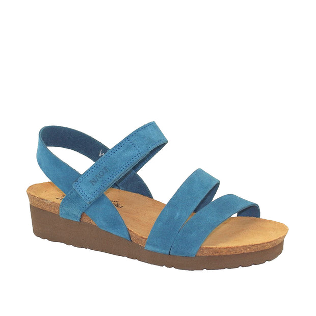 NAOT Kayla Wide Pacific Blue Suede
