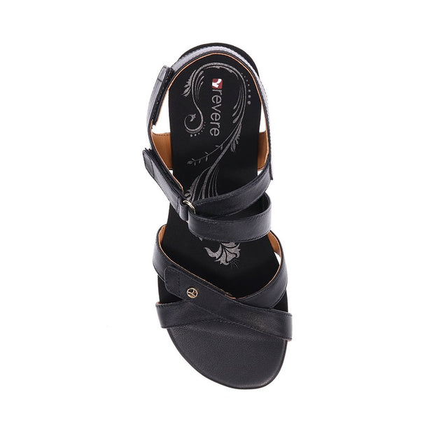 REVERE Casablanca Wedge Sandal#color_black-french