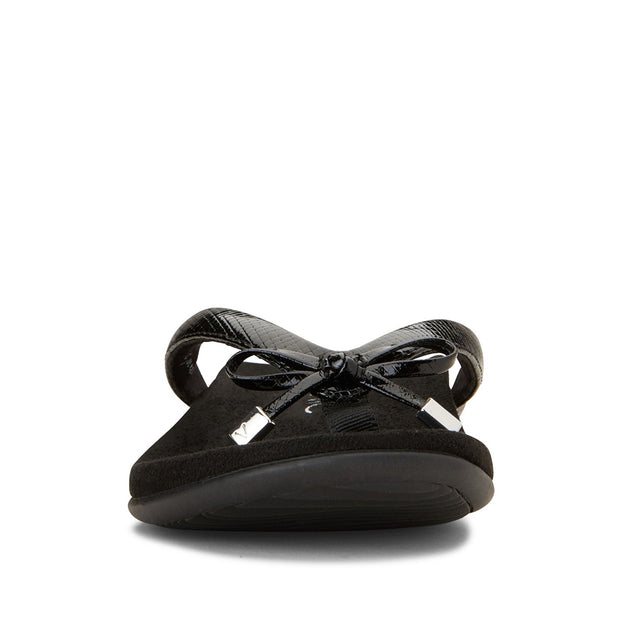 VIONIC Bella Flat Black Lizard