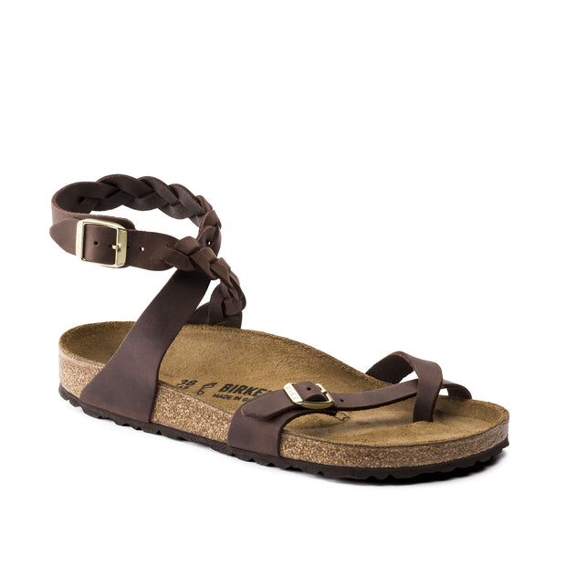 Yara Braided Oiled Leather Sandal Habana 1015927