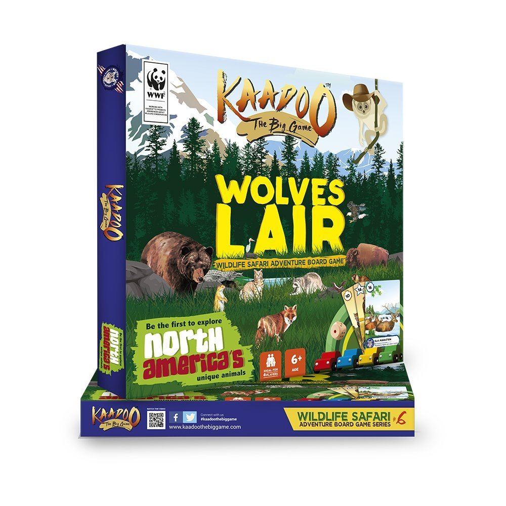Wolves' Lair - North America Edition Board Game by Kaadoo