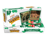 Jodo Wildlife 2-in-1 Puzzle (Elephant + Leopard) by Kaadoo