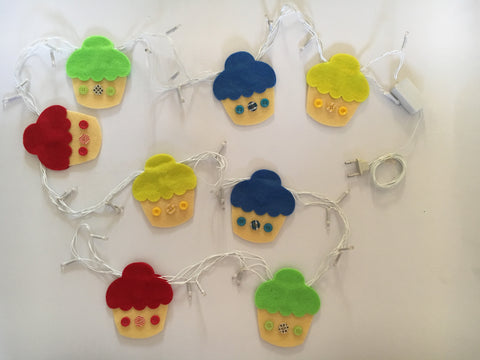 Multicoured Cupcake Fairy Lights by Fairytales