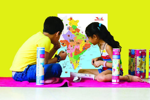Interactive India Map by CocoMoco Kids