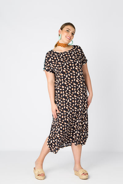 (1/2) Lunghi Dress (Cat Print)