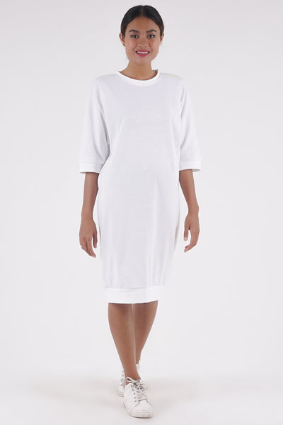 Slouch Dress - White