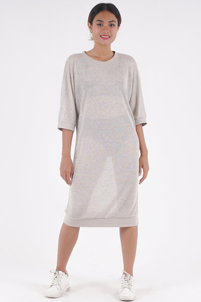 Slouch Dress - Lurex Silver