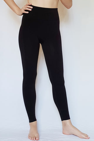 High-Rise Self-Hem Sculpt Legging - Black