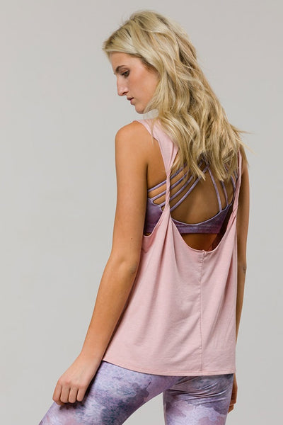 Twist Back Tank - Blush