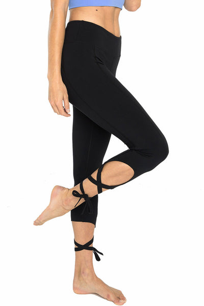 Ballet Tie 7/8 Length Legging - Black