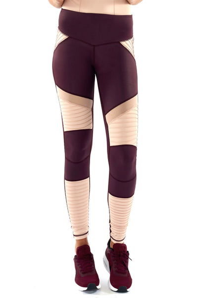 She Shimmers Moto Leggings - Raisin