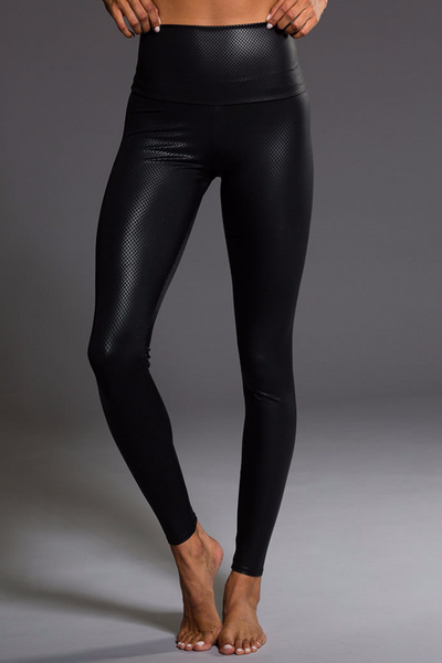 High Rise Legging - Black Fishnet