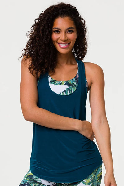 Glossy Flow Tank Top - Teal Green