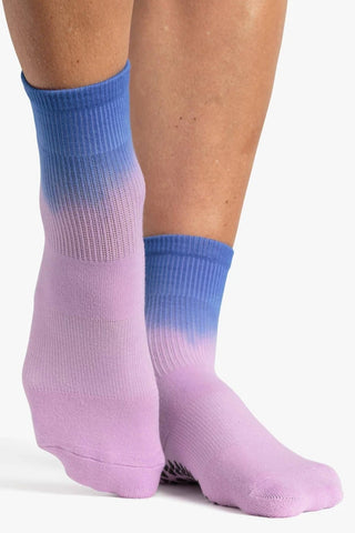 Cameron Ankle Grip Sock – Purple Blue