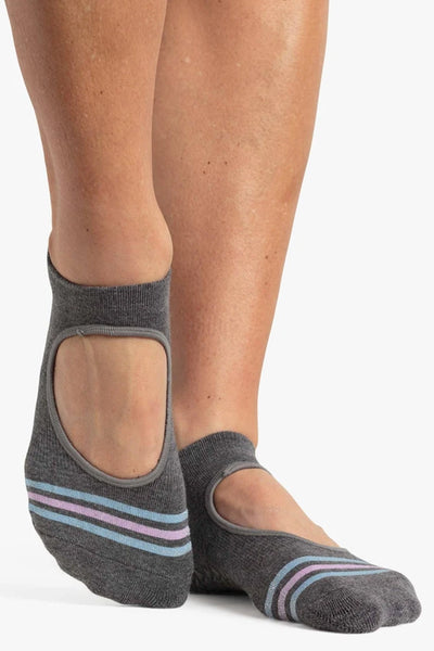 Mandy Grip Strap Sock - Grey