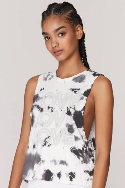 Love Active Flow Tank - Moon Tie Dye
