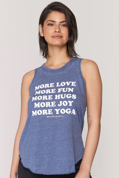 More Love Studio Tank - Faded Navy