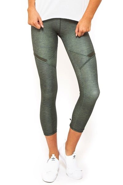 Courtside 7/8 Legging - Khaki Marle