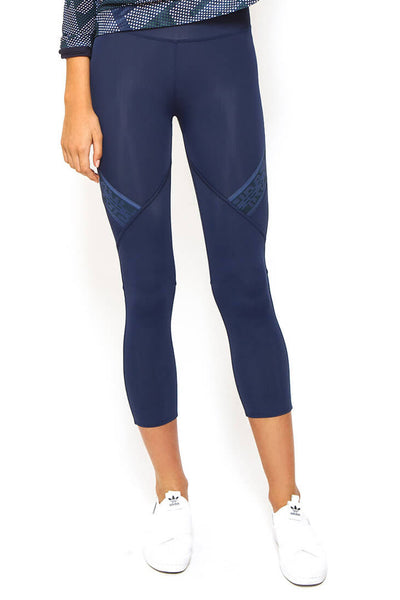 Cut Out 7/8 Length Legging - Navy