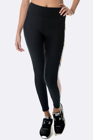 Blaze Legging - Black Blush Khaki